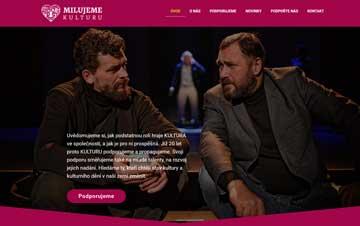 Spolek KULT, z. s. spustil 1. 1. 2020 své nové webové stránky